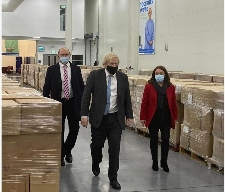 Prime Minister visits Larnook success at PPE manufacturing hub